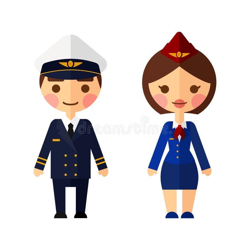 Capitano di nave su fondo bianco illustrazione di stock
