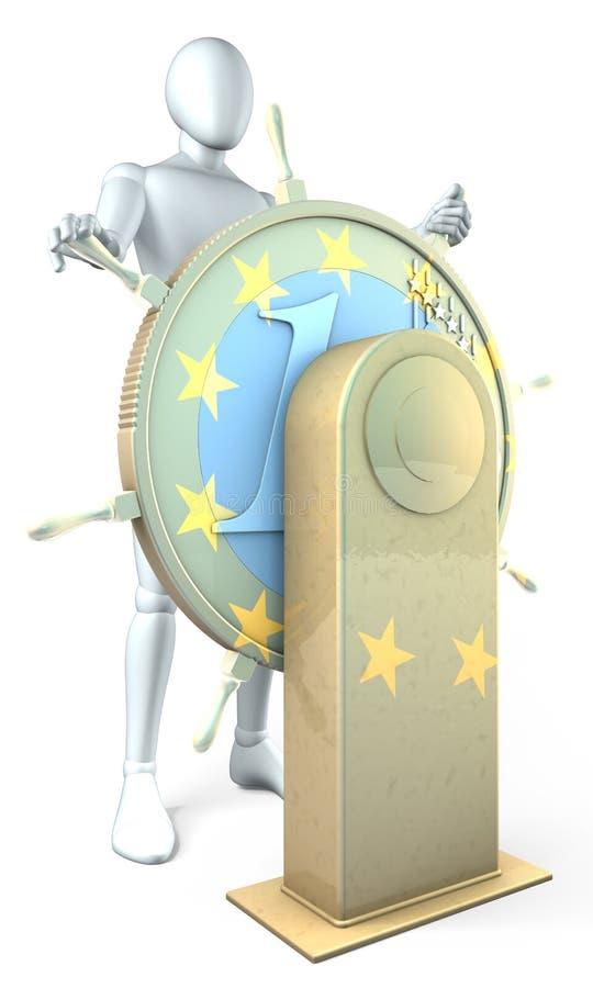 Capitano Euro illustrazione vettoriale