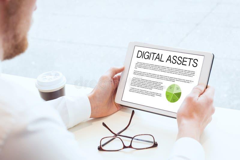Capitaux de Digital, concept d'affaires photographie stock libre de droits