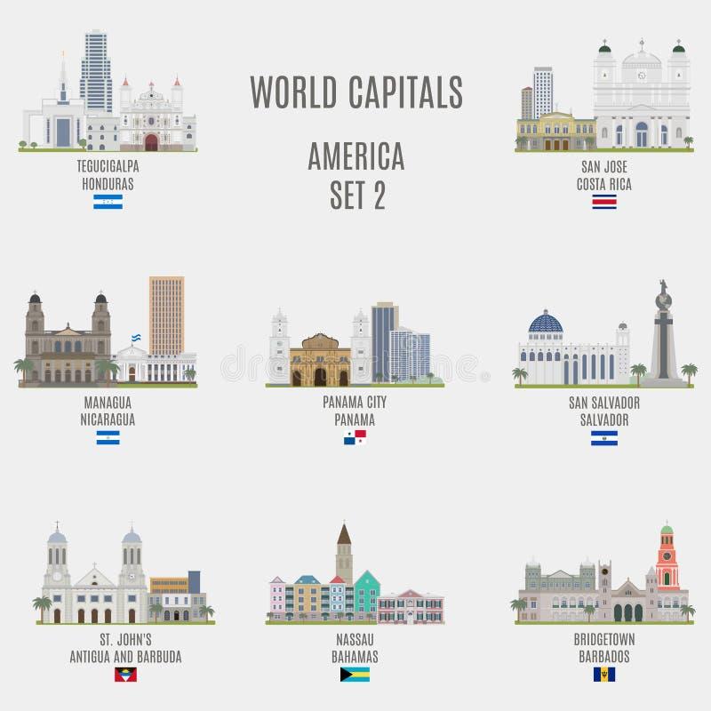 Capitaux du monde illustration de vecteur