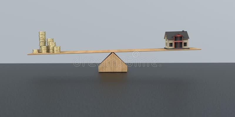 Capitaux en actions propres pour le financement de maison illustration libre de droits