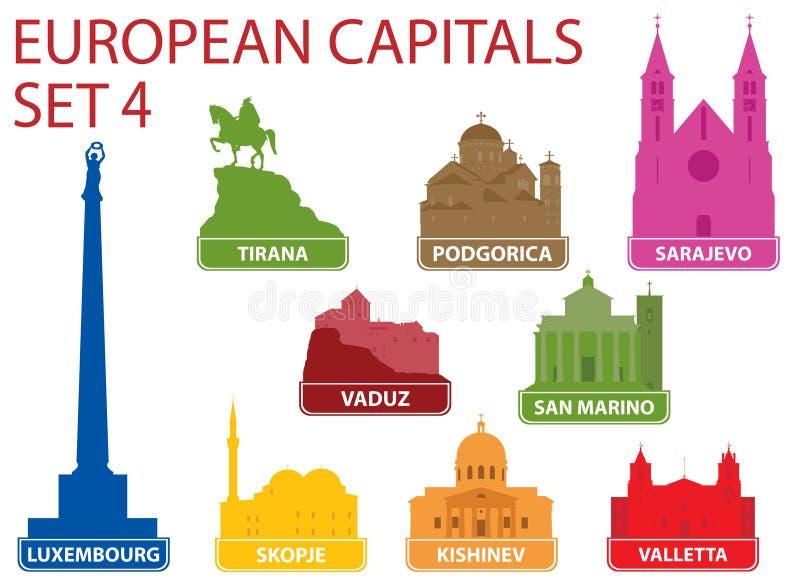 Capitaux européens illustration libre de droits