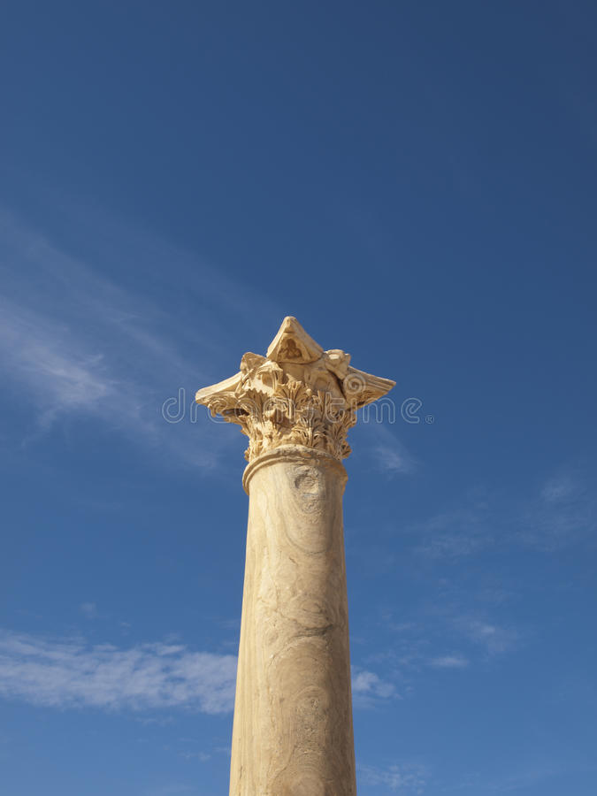 Capitel de la columna de Sabratha imagenes de archivo