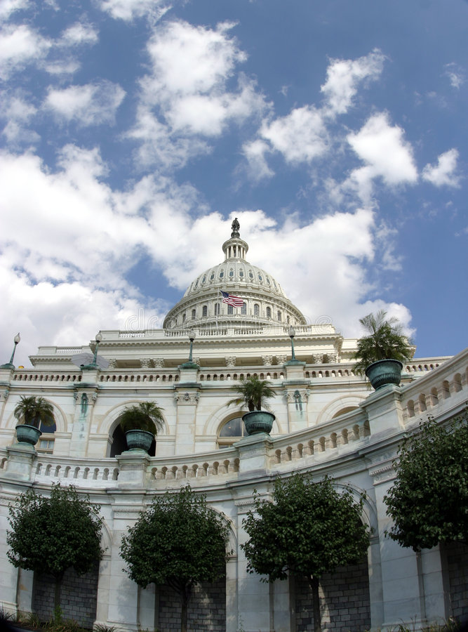 Capitol που ανατρέχει το U του S Στοκ Εικόνα