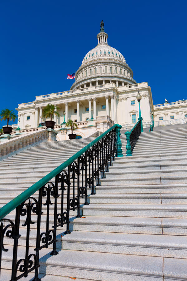 Capitol που χτίζει το συνέδριο του Washington DC ΗΠΑ στοκ φωτογραφίες με δικαίωμα ελεύθερης χρήσης