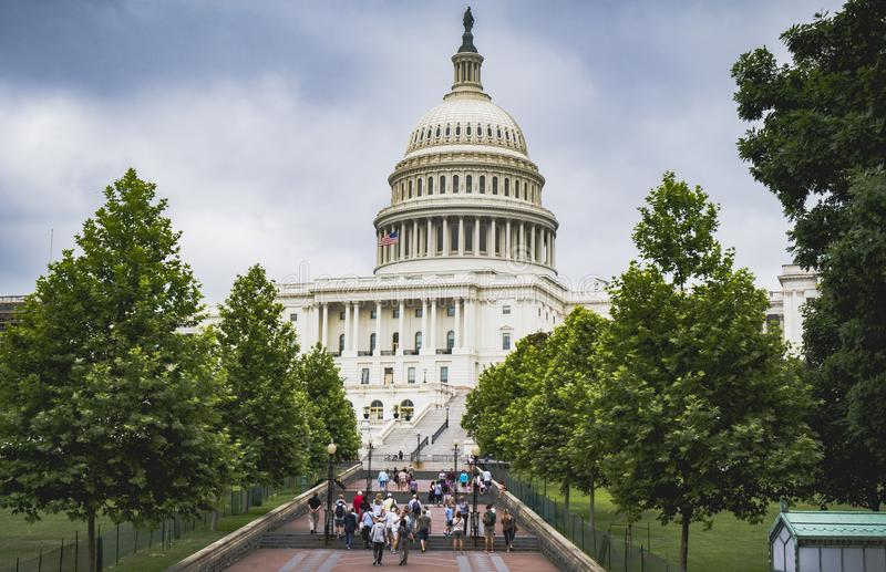 Capitol που χτίζει το Washington DC ΗΠΑ στοκ φωτογραφία