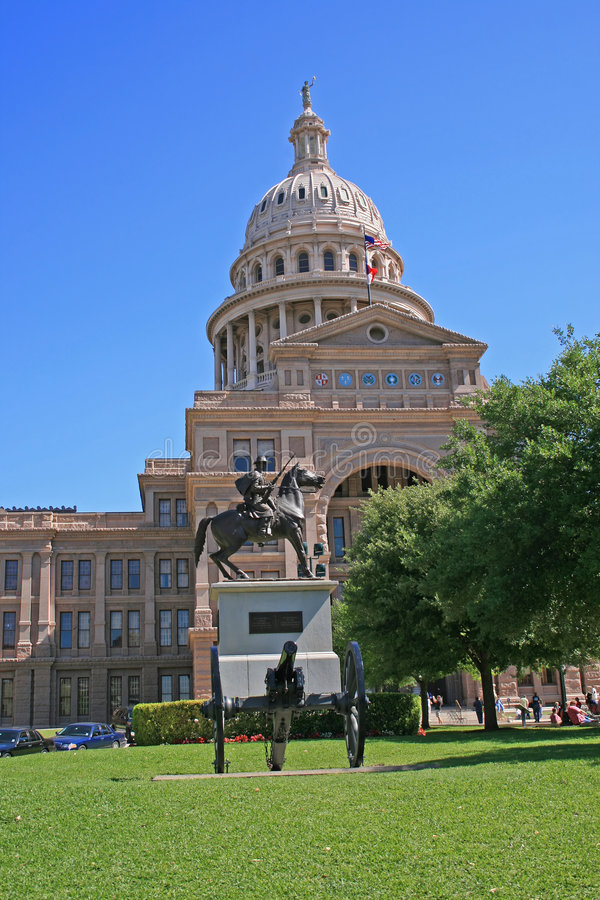 Capitol in austin. Texas state capitol against blue sky stock images