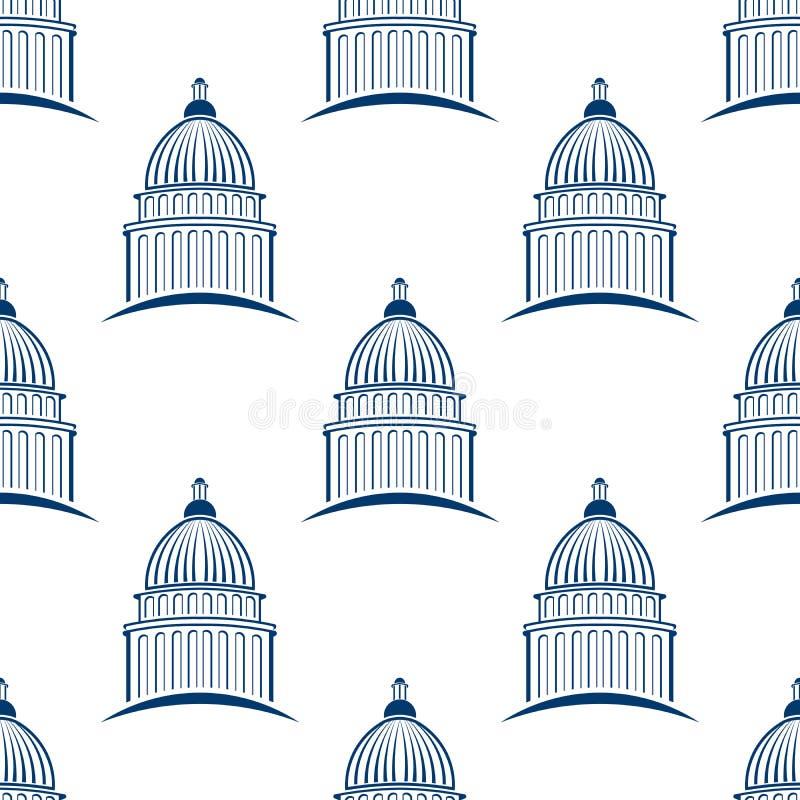 Capitol buduje bezszwowego deseniowego tło royalty ilustracja