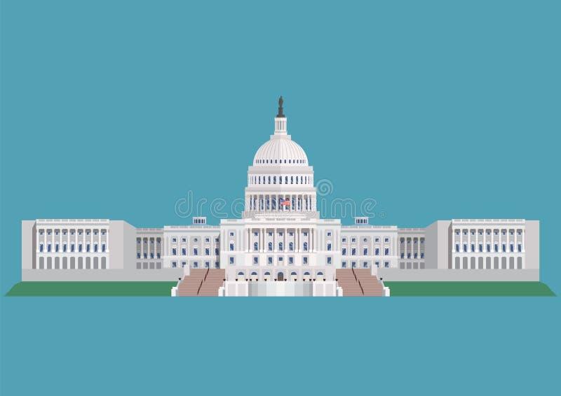 Capitol buduje Stany Zjednoczone Ameryka ilustracja wektor