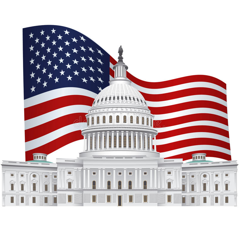 Capitol budynek royalty ilustracja