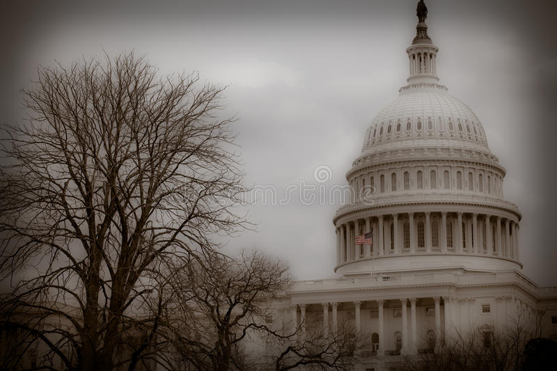 Capitol budynek rocznik - washington dc - zdjęcie stock
