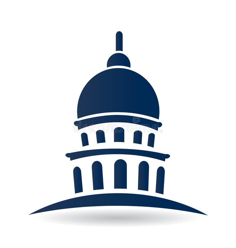 Capitol budynek, usa ikona ilustracja wektor
