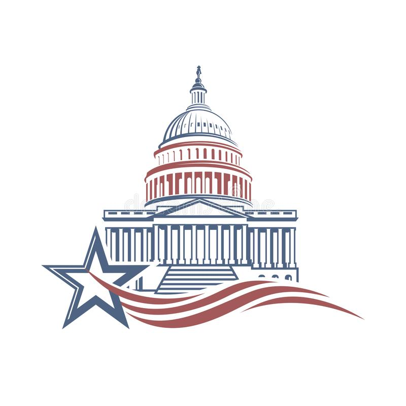 Capitol budynku ikona ilustracji