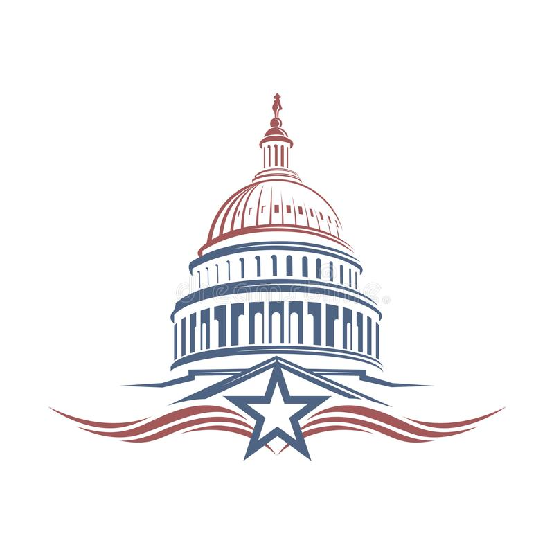 Capitol budynku ikona royalty ilustracja
