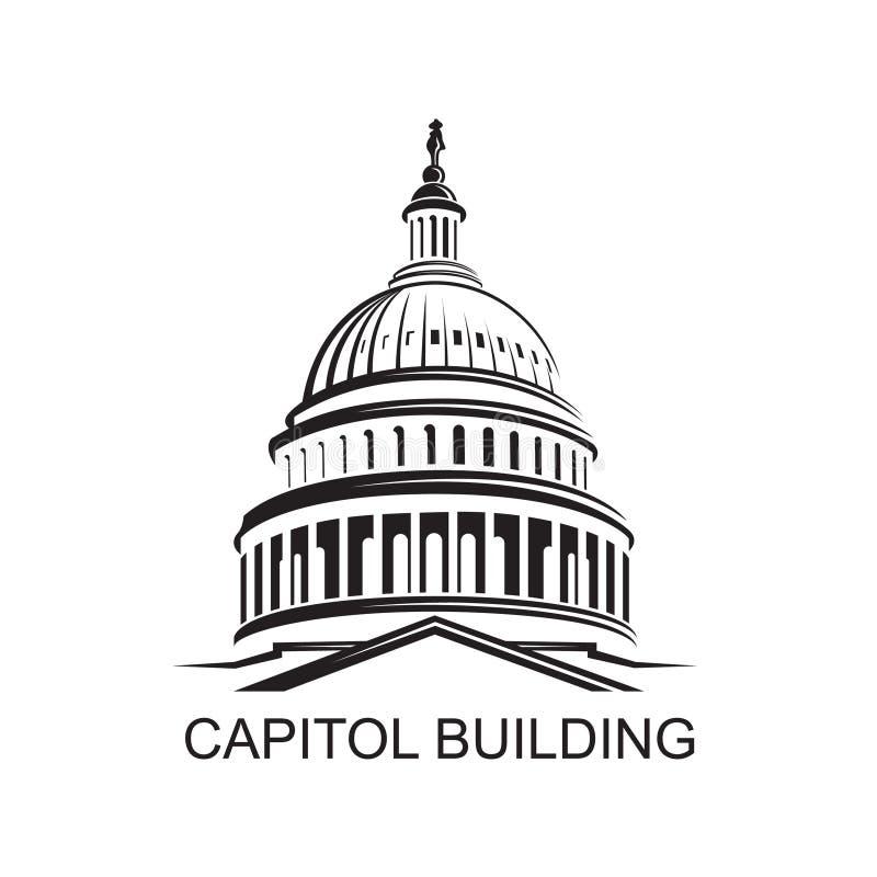 Capitol budynku ikona ilustracja wektor