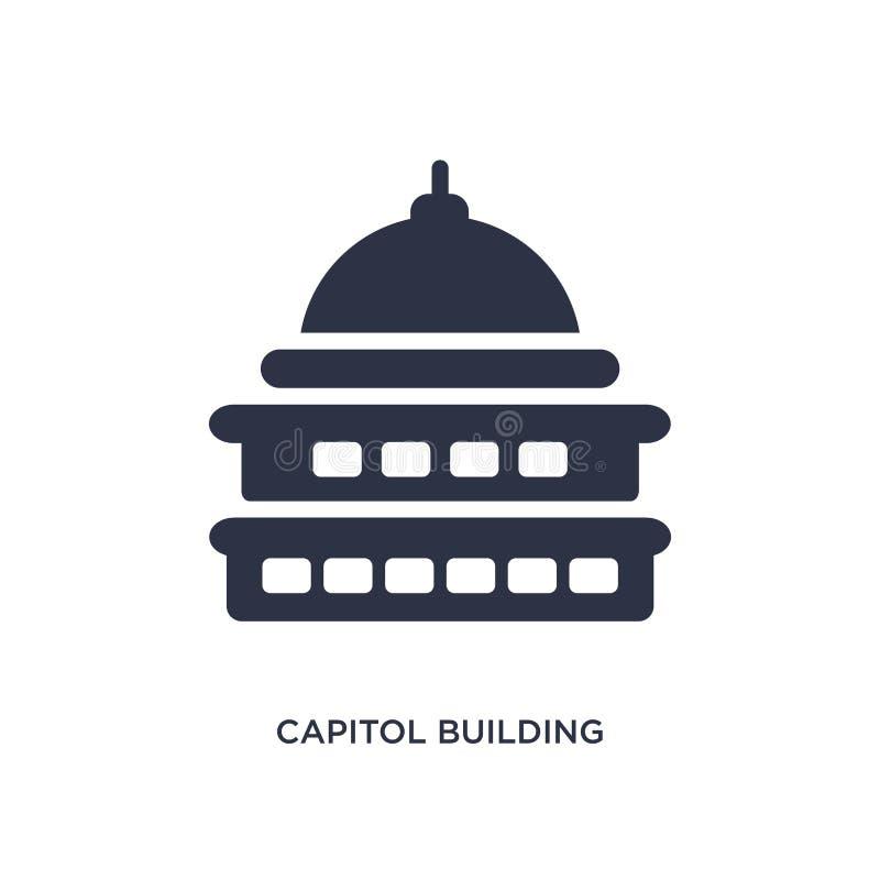 capitol budynku ikona na białym tle Prosta element ilustracja od budynku pojęcia ilustracja wektor