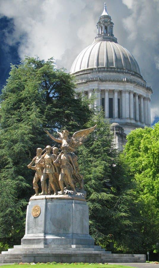 Capitol budynku kopuły olimpia Waszyngton obraz stock