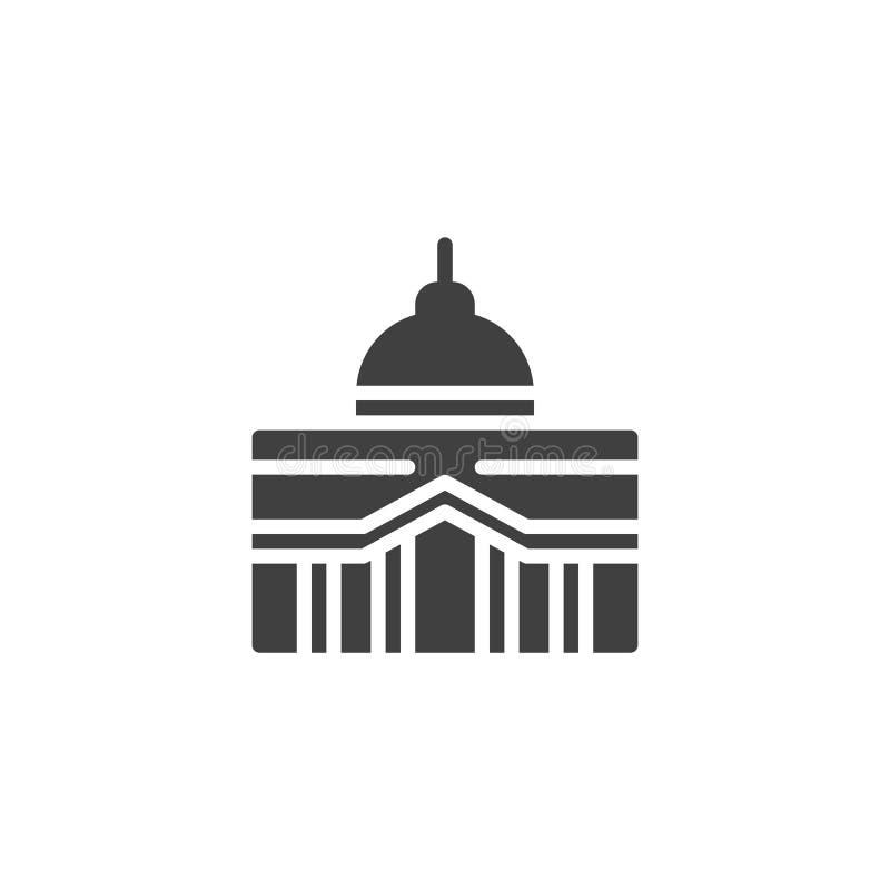 capitol budynku wektoru ikona royalty ilustracja