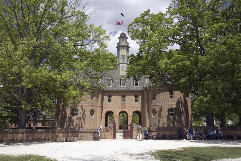 The Capitol Building Of Colonial Williamsburg, Editorial Photography