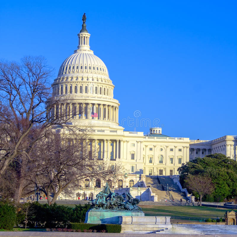 Capitol Building at Day, Washington DC stock photo