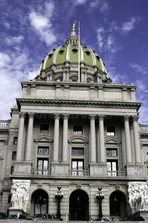 Capitol Building in Harrisburg, PA royalty free stock photo