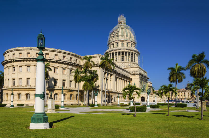 The Capitol building in Havana in Cuba royalty free stock images
