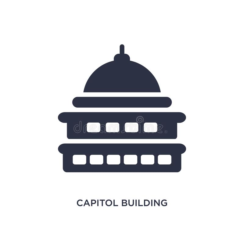 capitol building icon on white background. Simple element illustration from buildings concept vector illustration