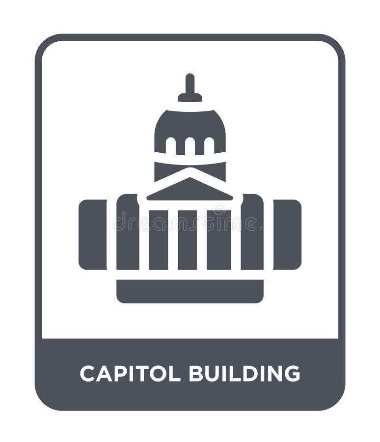 capitol building icon in trendy design style. capitol building icon isolated on white background. capitol building vector icon stock illustration