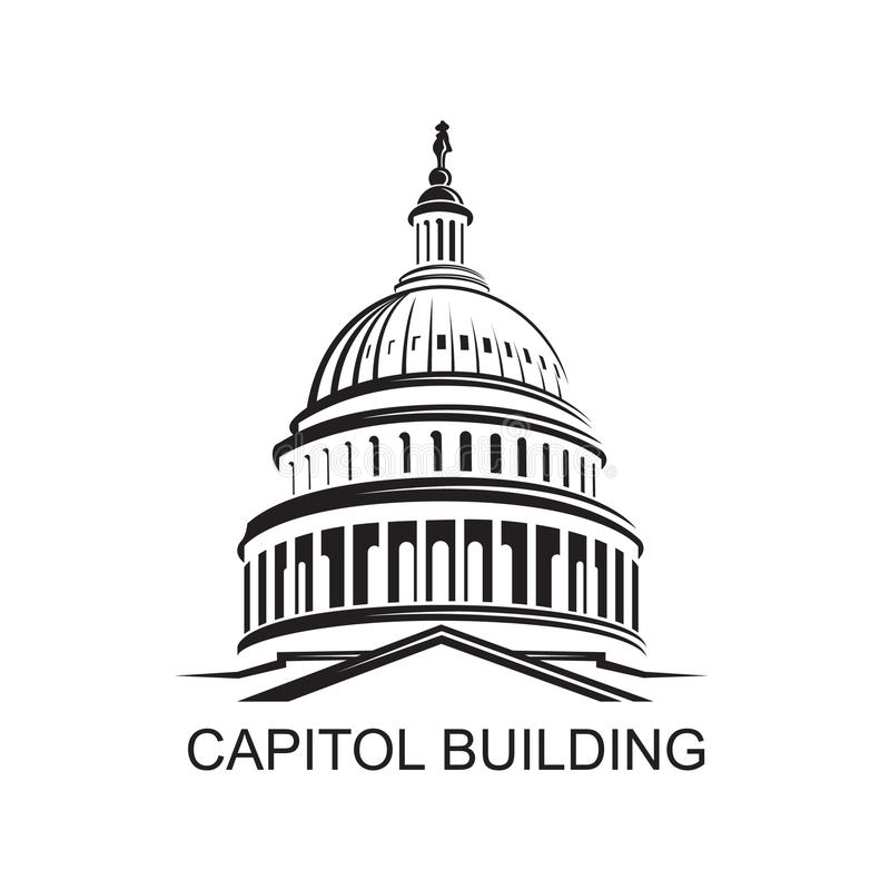 capitol building icon stock vector illustration of senate 85506455 rh dreamstime com capitol building vector graphic capitol records building vector