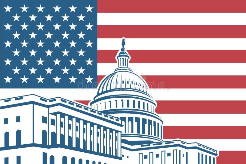 Capitol building icon stock illustration