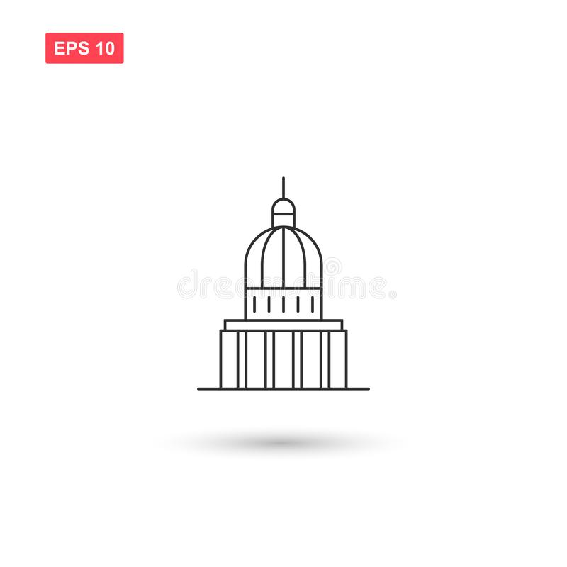 Capitol building icon vector isolated 5 stock illustration