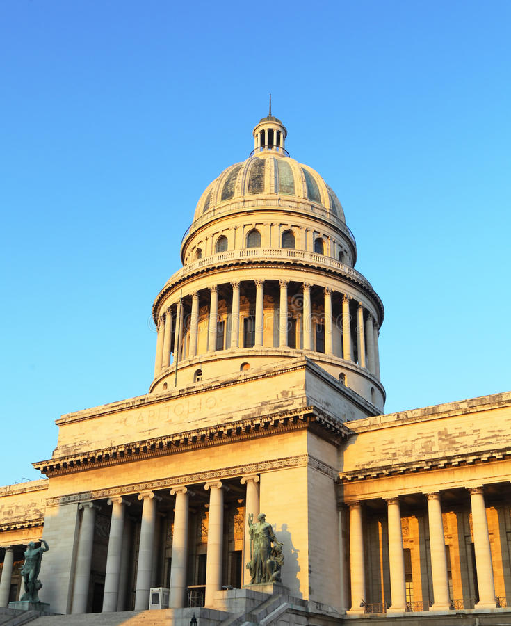 The Capitol Building just after Sunrise, Havana royalty free stock photography