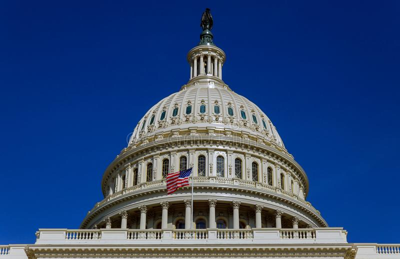 Capitol Building scenic view, Washington DC, USA stock photography