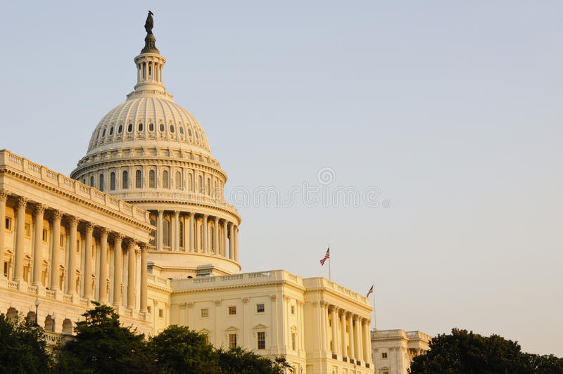 Capitol Building at sunset stock images