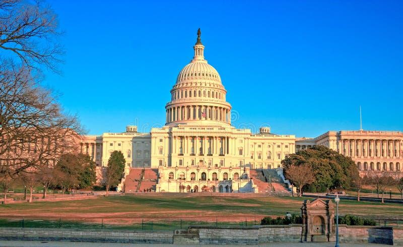 Capitol Building at Sunset, Washington DC royalty free stock photos
