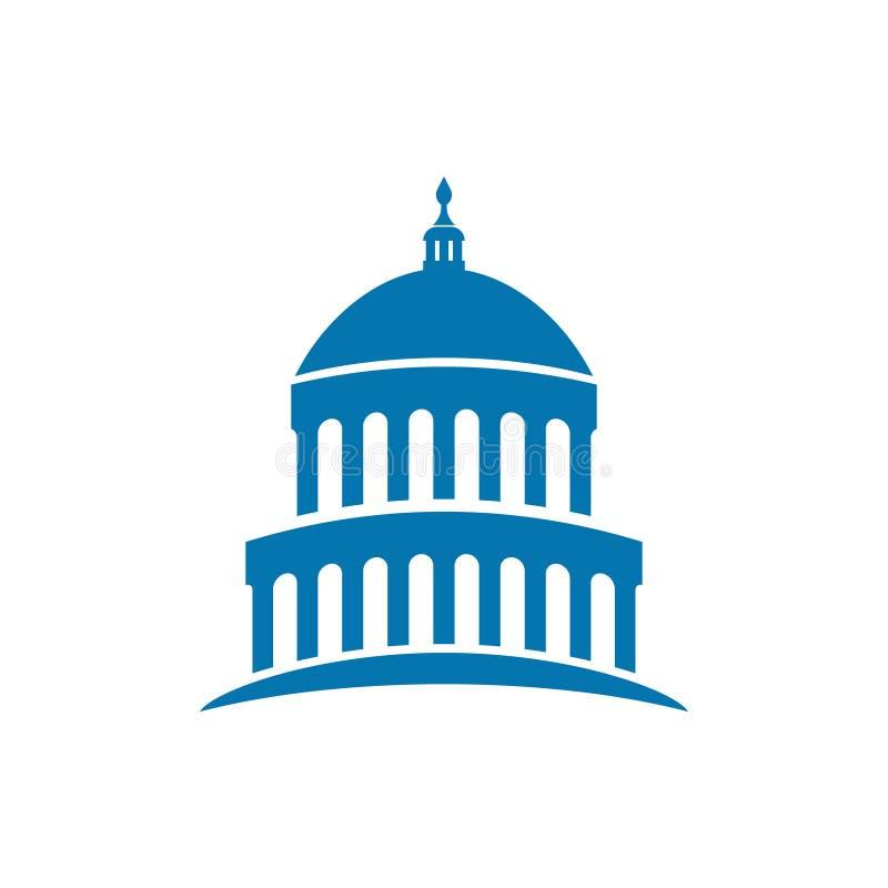 Capitol building usa icon design template vector vector illustration