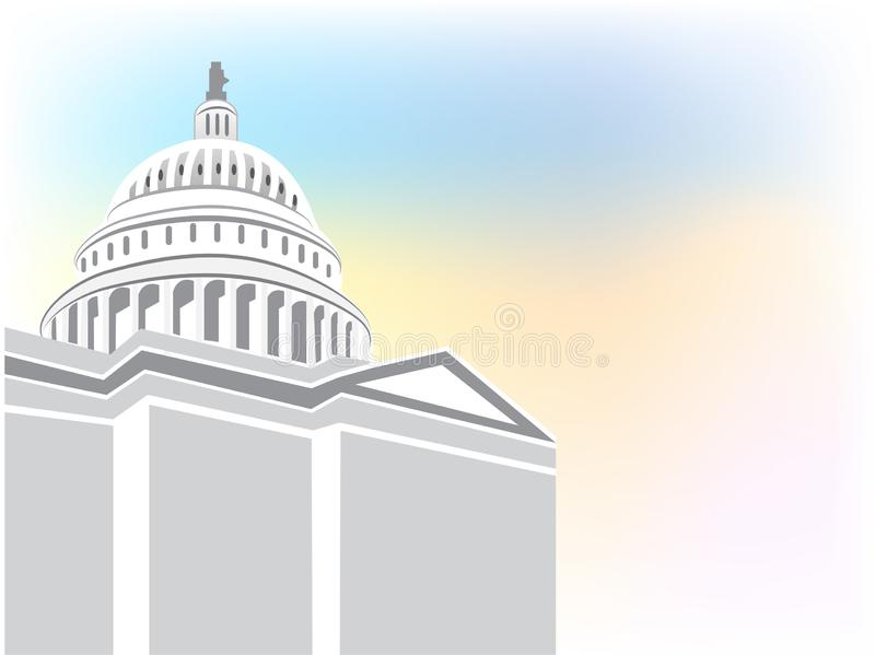 Capitol building vector icon background stock illustration