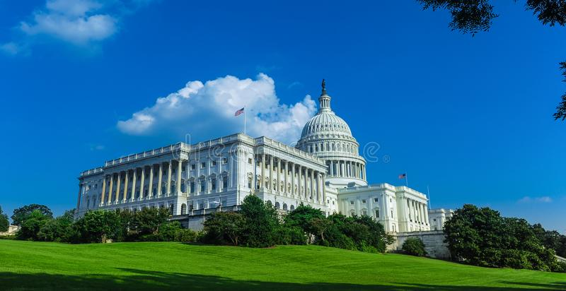Capitol building in Washington D.C. stock photo