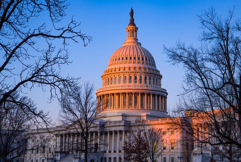 The Capitol Building - Washington DC royalty free stock images