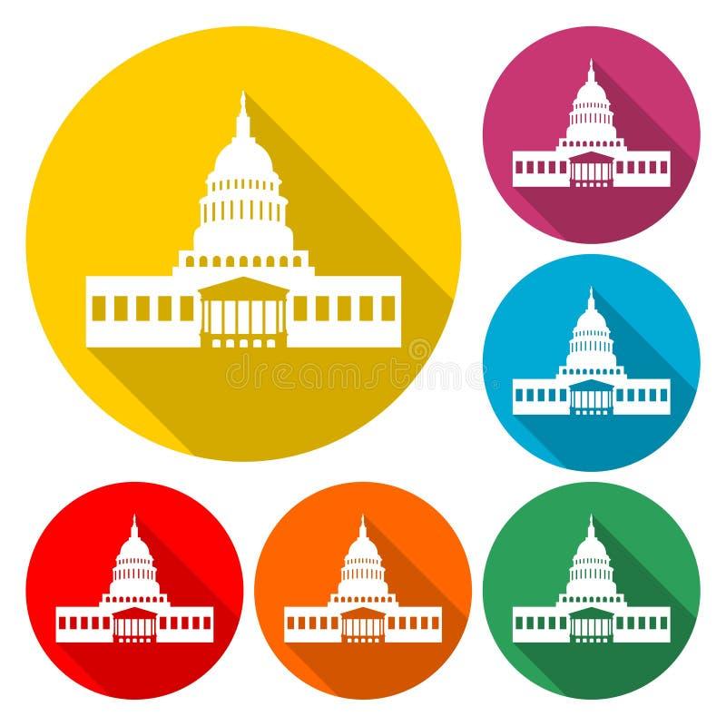 Capitol Building in Washington - Ilustracja ilustracja wektor