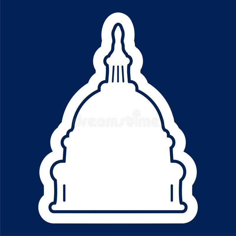 Capitol Building in Washington - Ilustracja royalty ilustracja