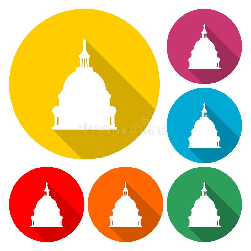 Capitol Building in Washington - Ilustracja ilustracji