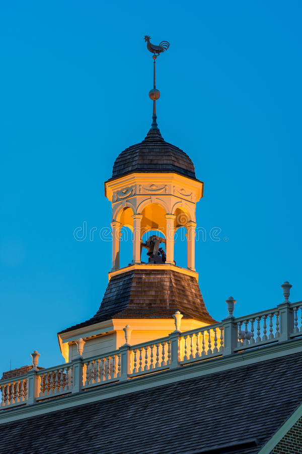 Capitol cupola at Dover. Cupola of the Old State House on The Green in Dover, Delaware on July 19, 2015 stock images