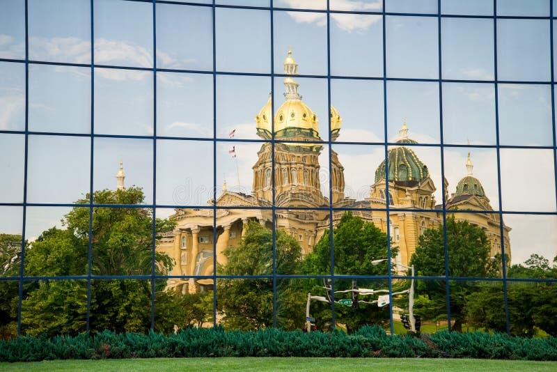 Capitol d'état de Des Moines Iowa photo stock
