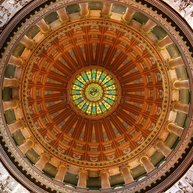 Capitol d'état de l'Illinois rotunda photographie stock libre de droits