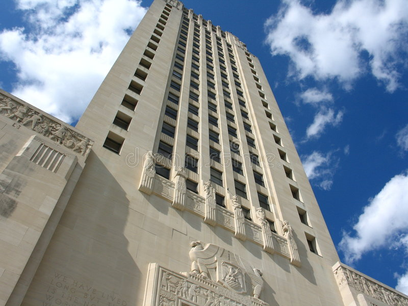 Capitol d'état de la Louisiane image libre de droits