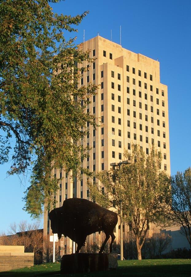 Capitol d'état du Dakota du Nord images libres de droits