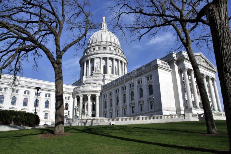 Capitol d'état du Wisconsin à Madison photographie stock libre de droits
