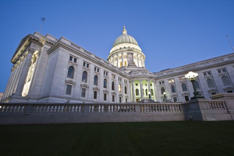 Capitol d'état du Wisconsin image stock