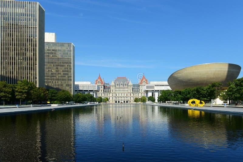 Capitol de l'état de New-York, Albany, NY, Etats-Unis photos stock